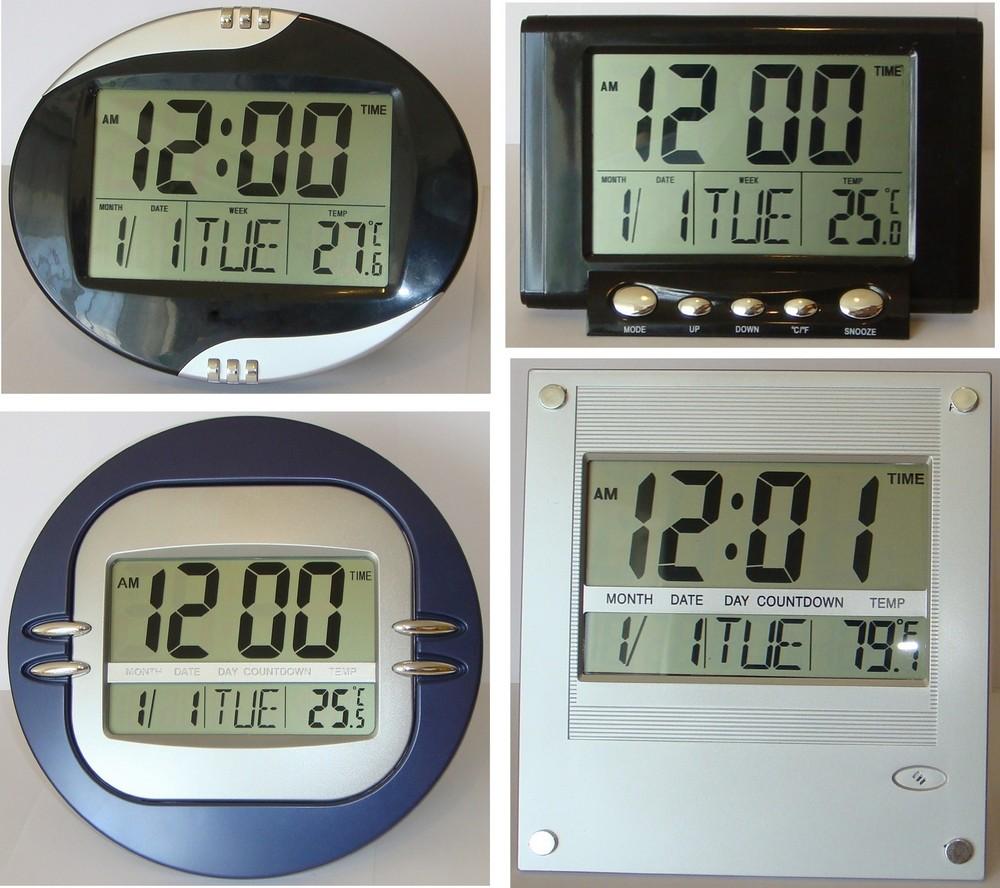 Настінні та настільні електронні годинники з великим дисплеєм і цифрами ce847e7ddc9be